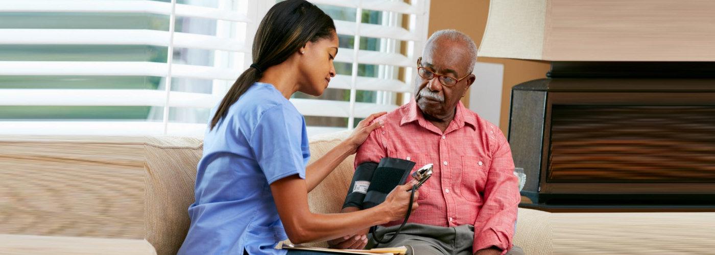 nurse consulting her patient