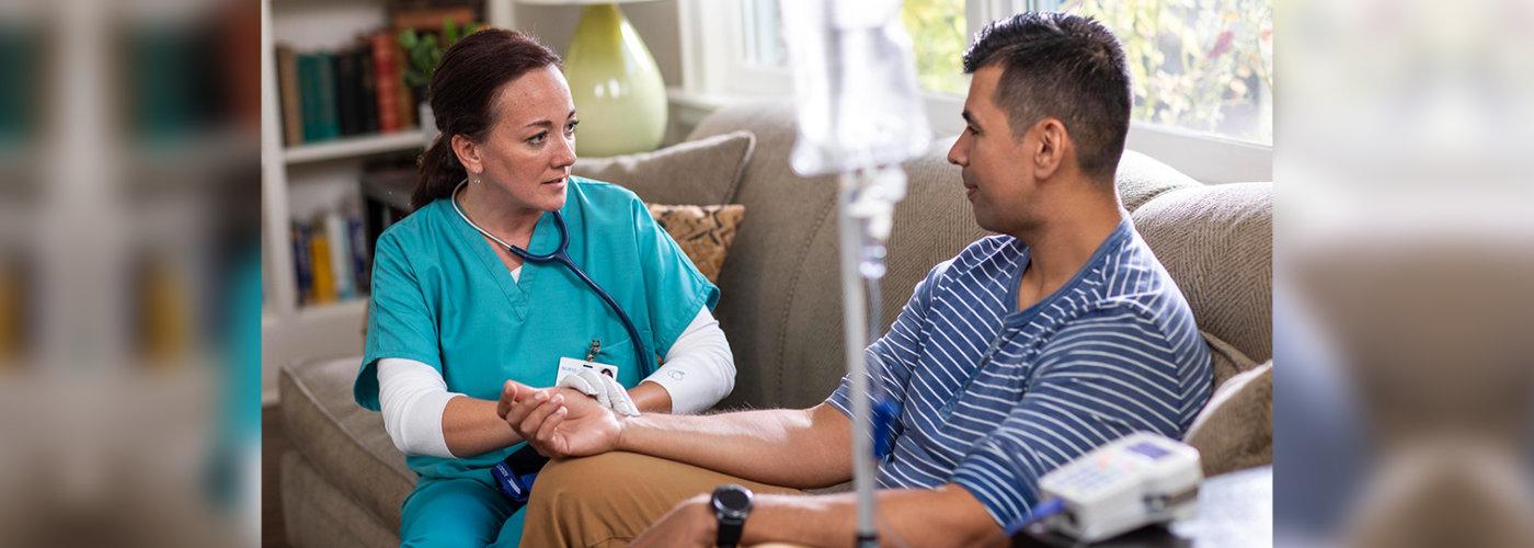 nurse consulting men